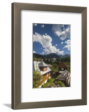Romania, Maramures, Statiunea Borsa, Ski Resort, Spring, Village View