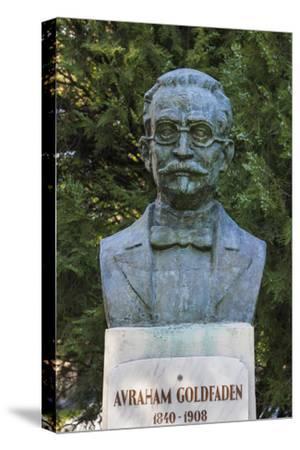 Romania, Moldavia, Iasi, Bust of Avraham Goldfaden