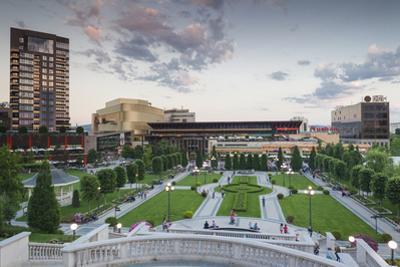 Romania, Moldavia, Iasi, Palas Mall by the Palace of Culture, Dusk