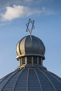 Romania, Moldavia, Iasi, the Great Synagogue, Dome with Star of David by Walter Bibikow