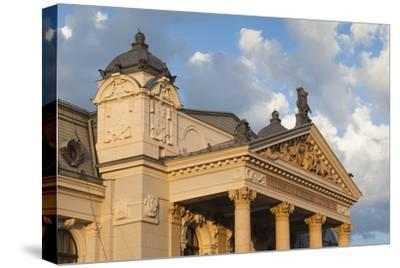 Romania, Moldavia, Iasi, Vasile Alecsandri National Theater at Sunset