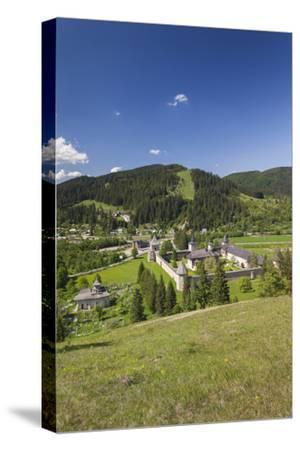 Romania, Sucevita, Sucevita Monastery, Exterior Elevated View