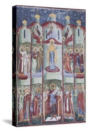 Romania, Sucevita, Sucevita Monastery, Exterior Religious Frescoes