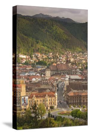 Romania, Transylvania, Brasov, View from the Brasov Citadel, Sunset