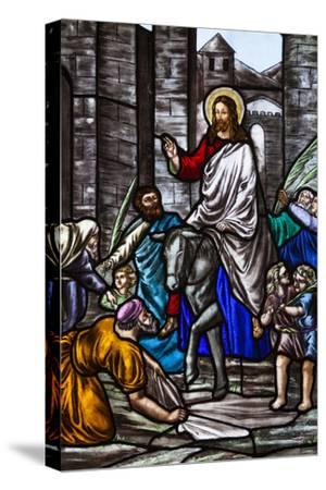 Romania, Transylvania, Greco-Catholic Cathedral, Stained Glass Window