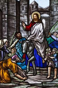 Romania, Transylvania, Greco-Catholic Cathedral, Stained Glass Window by Walter Bibikow