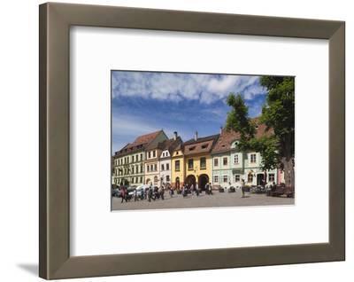 Romania, Transylvania, Sighisoara, Piata Cetatii, Old Town Buildings