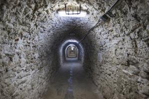 Romania, Transylvania, Turda, Turda Salt Mine, Interior Passageway by Walter Bibikow