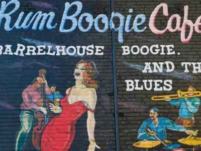 Rum Boogie Cafe, Wall Mural, Beale Street Entertainment Area, Memphis, Tennessee, USA