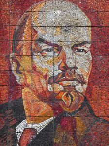 Russia, Black Sea Coast, Sochi, Riviera Park, Revolutionary Mosaic of Vladimir Lenin by Walter Bibikow