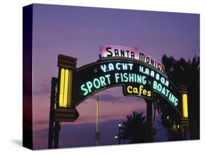 Santa Monica Pier Neon Entrance Sign, Los Angeles, California, USA