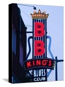 signs for bb kings club beale street entertainment area memphis tennessee usa