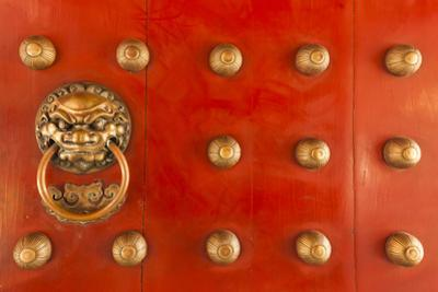 Singapore, Chinatown, Buddha Tooth Relic Temple, Gate Detail