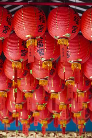 Singapore, Chinatown, Thian Hock Keng Temple, Chinese Red Lanterns
