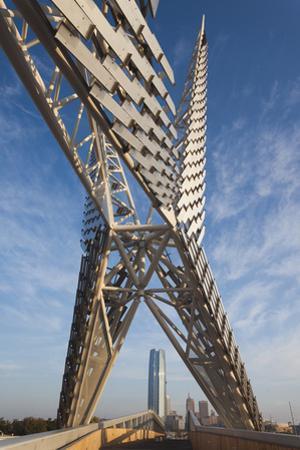 Skydance Footbridge over Highway I-40, Oklahoma City, Oklahoma, USA by Walter Bibikow