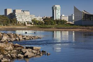 Skyline by the Arkansas River, Wichita, Kansas, USA by Walter Bibikow