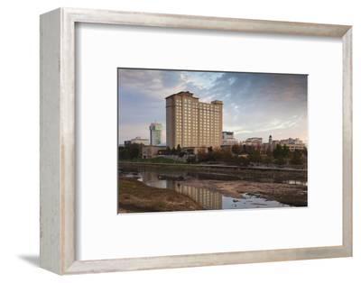 Skyline by the Arkansas River, Wichita, Kansas, USA