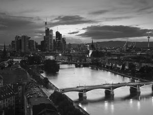 Skyline, Frankfurt-Am-Main, Hessen, Germany by Walter Bibikow