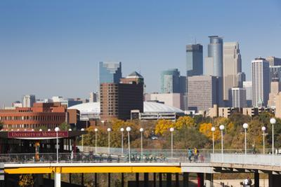 Skyline from the University of Minnesota, Minneapolis, Minnesota, USA