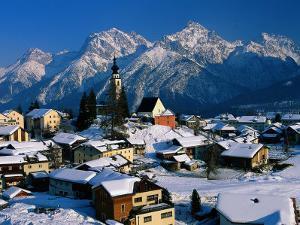 Small Village, Graubunden, Switzerland by Walter Bibikow