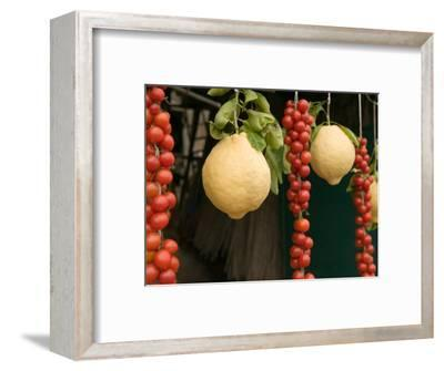 Sorrento Lemons and Cherry Tomatoes, Sorrento, Campania, Italy