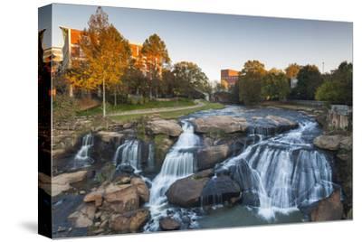 South Carolina, Greenville, Falls Park on the Reedy River, Dawn
