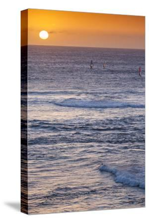 Southwest Australia, Prevelly, Surfers Point, Windsurfers, Dusk