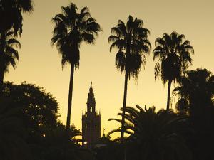 Spain, Andalucia Region, Seville Province, Seville, Giralda Tower from the Rio Guadalquivir River by Walter Bibikow
