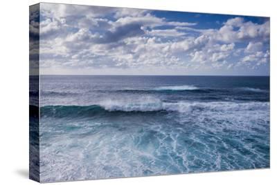 Spain, Canary Islands, Lanzarote, El Golfo, Elevated Waterfront View