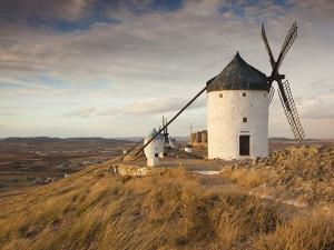 Spain, Castile-La Mancha Region, Toledo Province, La Mancha Area, Consuegra, Antique La Mancha Wind by Walter Bibikow
