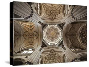 Spain, Castilla Y Leon Region, Salamanca Province, Salamanca, Salamanca Cathedrals, Ceiling by Walter Bibikow
