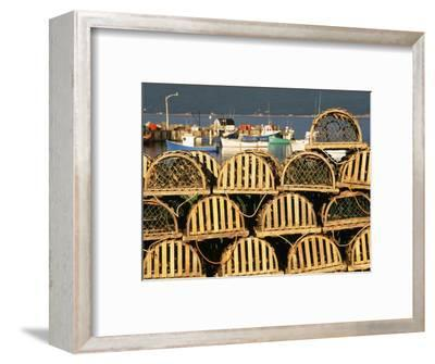Stack of Lobster Traps at Neil's Harbor, Cape Breton, Nova Scotia, Canada