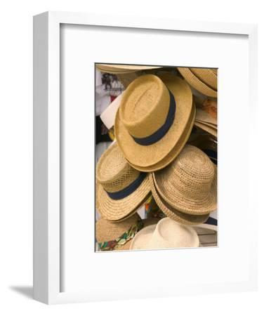 Straw Hats at Port Lucaya Marketplace, Grand Bahama Island, Caribbean