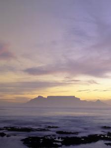 Table Mountain at Dusk, Cape Town, South Africa by Walter Bibikow
