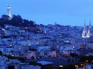 Telegraph Hill and North Beach, Coit Tower, San Francisco, California, USA by Walter Bibikow