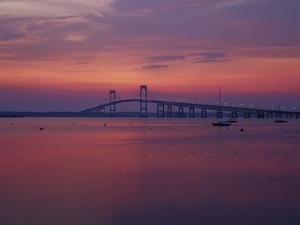 The Newport Bridge at Sunset, Newport, Rhode Island, USA by Walter Bibikow