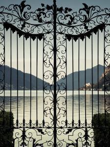 Ticino, Lake Lugano, Lugano, Parco Civico Gate Lake View, Switzerland by Walter Bibikow