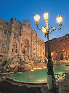 Trevi Fountain at Night, Rome, Italy by Walter Bibikow