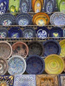 Tunisian Pottery, Port El Kantaoui, Tunisia by Walter Bibikow