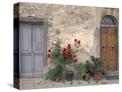 Tuscan Doorway in Castellina in Chianti, Italy by Walter Bibikow