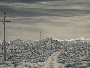 USA, California, Eastern Sierra Nevada Area, Malpais Mesa Wilderness View of the Sierra Nevada Moou by Walter Bibikow