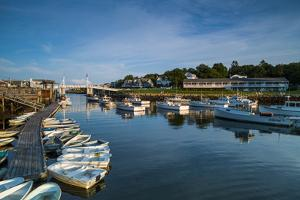 USA, Maine, Ogunquit, Perkins Cove, Boat Harbor by Walter Bibikow
