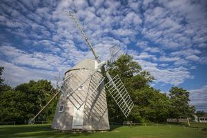 USA, Massachusetts, Cape Cod, Orleans, old windmill by Walter Bibikow