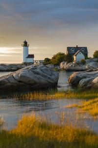 USA, Massachusetts, Gloucester, Annisquam, Annisquam Lighhouse by Walter Bibikow