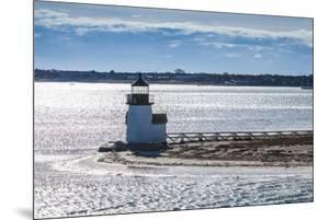 USA, Massachusetts, Nantucket Island. Nantucket Town, Brant Point Lighthouse from Nantucket Ferry. by Walter Bibikow