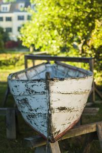USA, New Hampshire, Portsmouth, antique row boat by Walter Bibikow