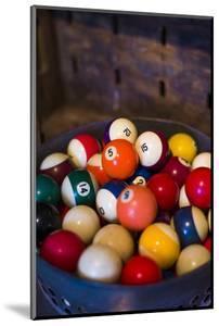 USA, New Jersey, Lambertville, Antique Billiard Balls by Walter Bibikow