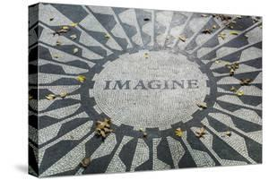 USA, New York, City, Central Park, John Lennon Memorial, Imagine by Walter Bibikow