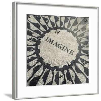 USA, New York, City, Central Park, John Lennon Memorial, Imagine