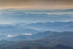 USA, North Carolina, Grandfather Mountain State Park, View of the Blue Ridge Mountains by Walter Bibikow